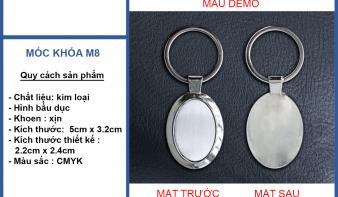Móc khóa Kim loại in logo quà tặng - móc khóa kim loại khắc logo giá rẻ